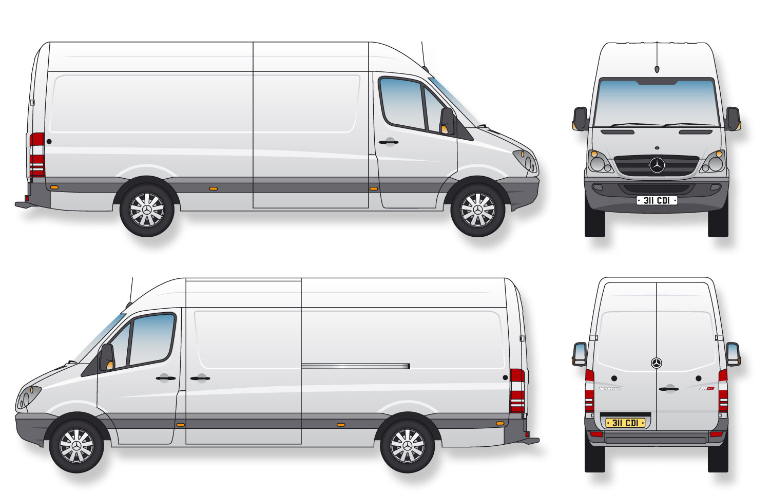 cargo van diagram template cargo van compare