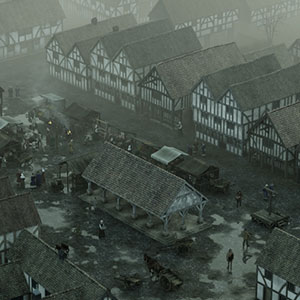Medieval townscape 3D model reconstruction by Bob Marshall