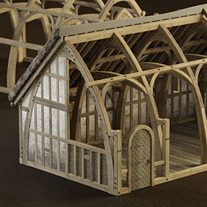Timber-framed building 3D model reconstruction by Bob Marshall