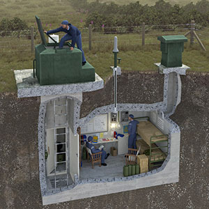 Cutaway illustration of a ROC Monitoring Post