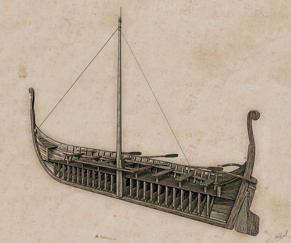 West Highland galley (birlinn) illustration