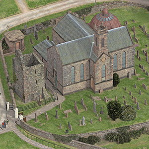 Illustrated reconstructions of Kilmun Church, Argyll
