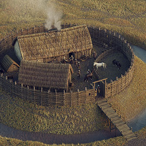 Digital reconstruction of an early Scottish moated castle by Bob Marshall