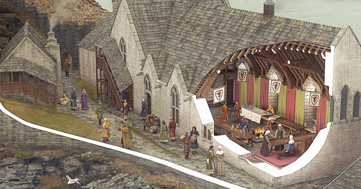 Tintagel Castle Illustrated Historical Reconstructions