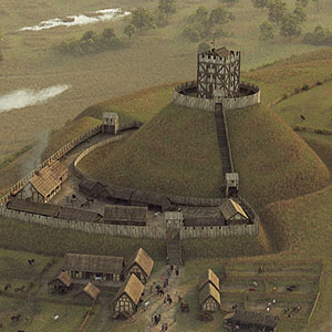 Digital reconstruction of Windsor Castle in 1086 by Bob Marshall